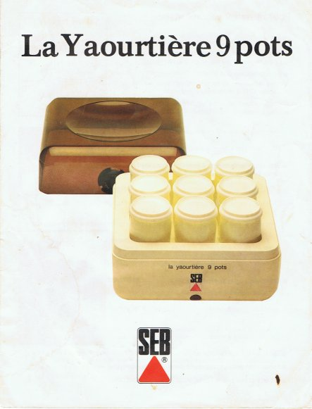 Notice yaourtiere seb bifidus 9 pots